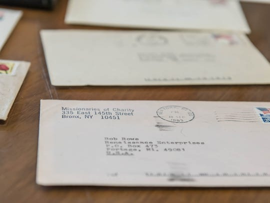 Some of Bob Rowe's correspondence and memorabilia from