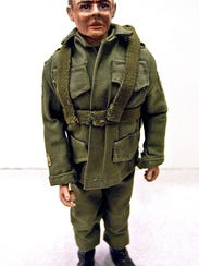 The original prototype G.I. Joe doll, designed by Don Levine for Hasbro Toys and released in 1964, is shown on display at the San Diego Convention Center in 2003. The doll was expected to bring approximately $600,000 at an auction.