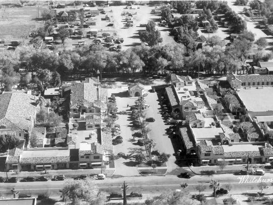 File aerial photo of Section 14 neighborhood in Palm Springs.