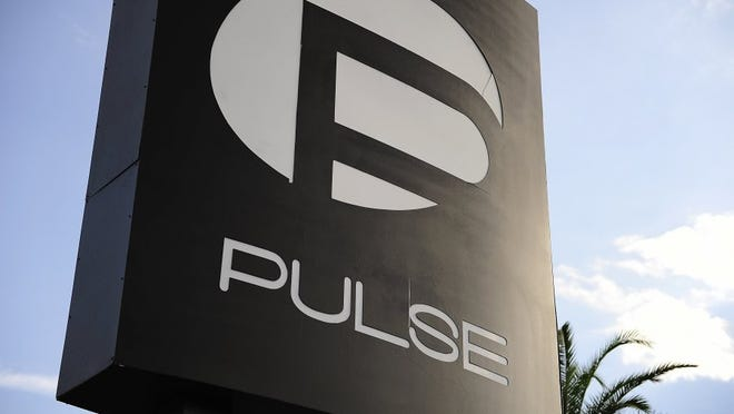The Pulse sign is shown Saturday, June 25, 2016 at Pulse nightclub in Orlando.