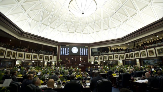 Images from the beginning of the 2016 Florida legislative session in Tallahassee at the Florida Capitol. During the first week of the 60 day session, Gov. Rick Scott addressed the Florida Senate and the Florida House of Representatives in a joint session and several committees met. (LEAH VOSS/TREASURE COAST NEWSPAPERS)