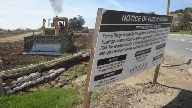 STAR FILE PHOTO Property is graded at Wells and Telegraph roads in east Ventura where an apartment complex will be built.