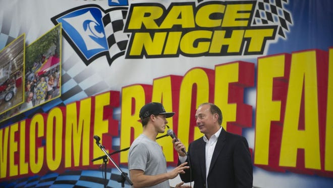 NASCAR driver Trevor Bayne of Knoxville, (left) and Dr. Jerry Punch will be at Food City Race Night Thursday at the Knoxville Expo Center.