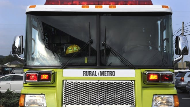 A Rural/Metro fire truck in Knoxville Wednesday, Aug. 20, 2014. The private department has improved its ISO fire-protection rating, which will save homeowners money on fire insurance premiums. (MICHAEL PATRICK/NEWS SENTINEL)