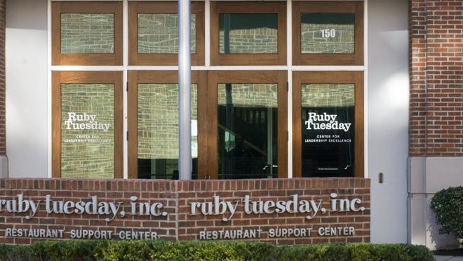 The former Ruby Tuesday headquarters at 150 Church Street in downtown Maryville, TN. The building is now the home office of Altar'd State.