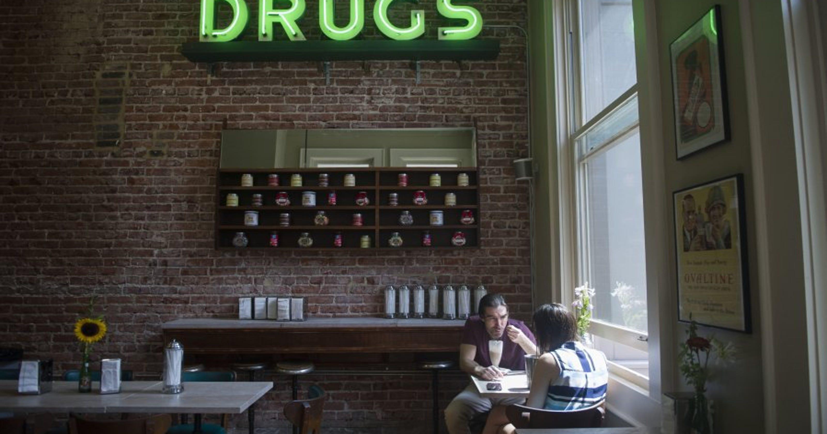 Vintage soda fountain opens at new Phoenix Pharmacy on Gay