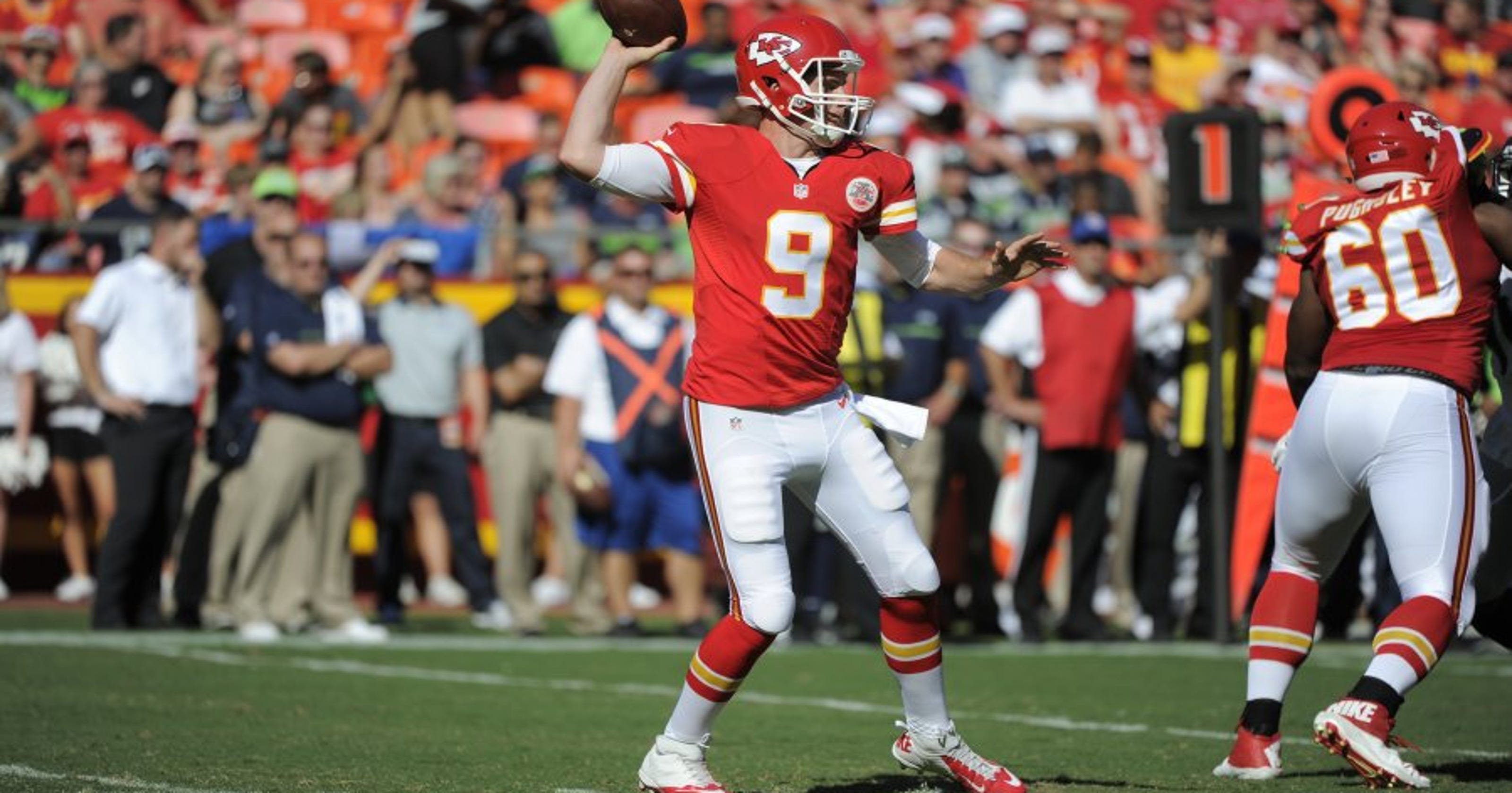 low priced 41782 123e4 Tyler Bray battling for spot as Chiefs' backup QB