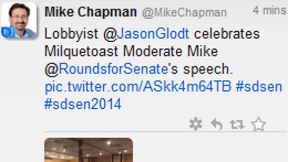 Screenshot of a tweet by @MikeChapman.
