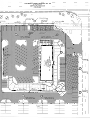 A site plan to convert the old TGI Fridays building