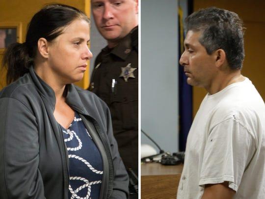 Valbona Lucaj, left, and Sebastiano Quagliata are charged