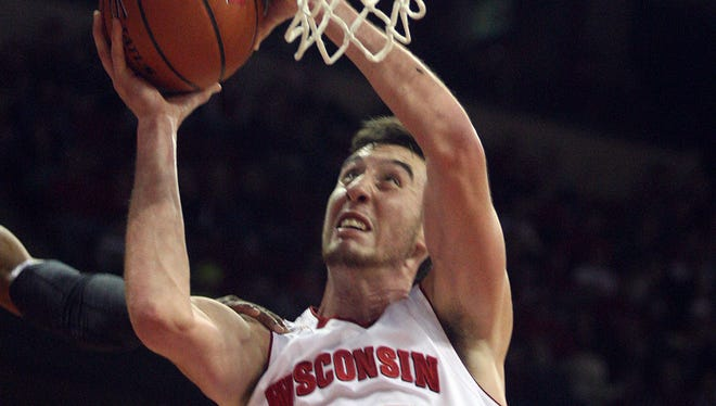 Wisconsin's Frank Kaminsky had 12 points to go along with eight rebounds and four blocks in the Badgers' 63-57 win over Saint Louis in the Cancun Challenge.