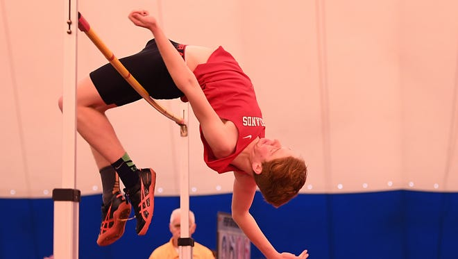 Boys State Indoor Track and Field Championships at John Bennett Indoor Sports Complex in Toms River on Saturday, Feb. 25, 2017. Northern Highlands' Tim DeLorenzo competes in the high jump.
