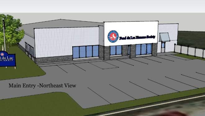 A rendering of design plans for new Fond du Lac Humane Society.
