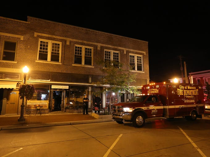 Scenes from the Downtown Grocery fire, Tuesday, September