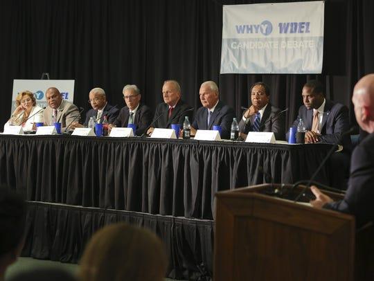 Wilmington mayor candidates (from left) Maria Cabrera,