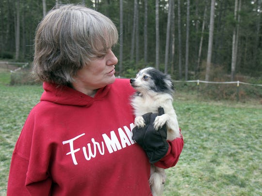 Victoria Carnahan has been raising and sheltering dogs for more than 20 years. One of  her favorites is a Chihuahua named Moxie.