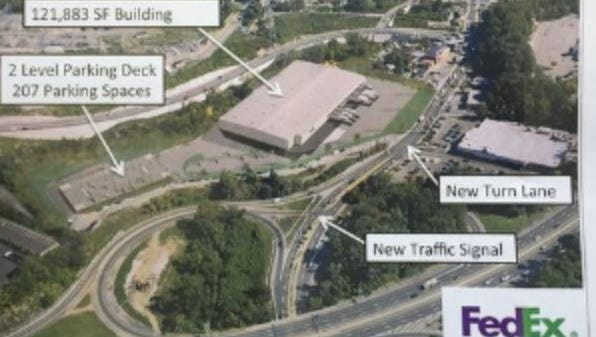 The proposed FedEx distribution center in Yonkers