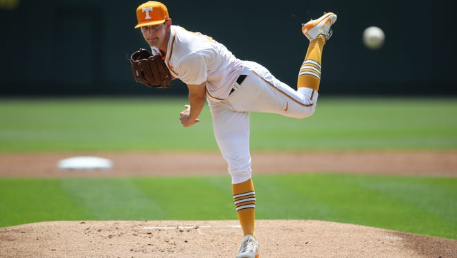 Tennessee's Zach Warren made his first SEC start since March 26 and pitched 4 2/3 innings against Auburn in an 8-1 loss Saturday at Lindsey Nelson Stadium.
