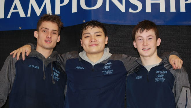 Ann Arbor Skyline's money event at the Division 1 state finals was the 500 freestyle, with David Cleason (first place), Sam Jyawook (third) and Keith Kozma (eighth) all adding points to the Eagles' team score.