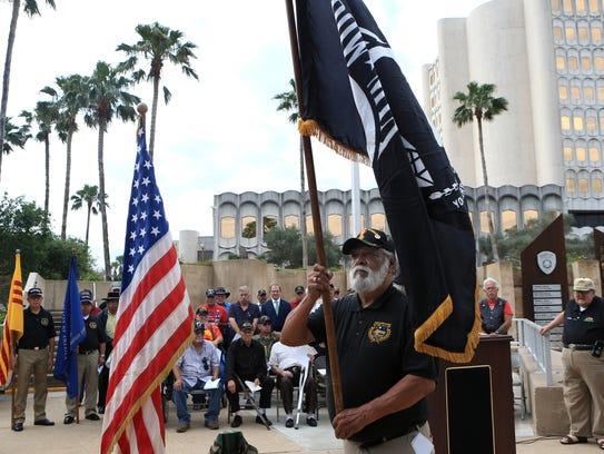 Richard Quijas, a member of the Veterans Band of Corpus