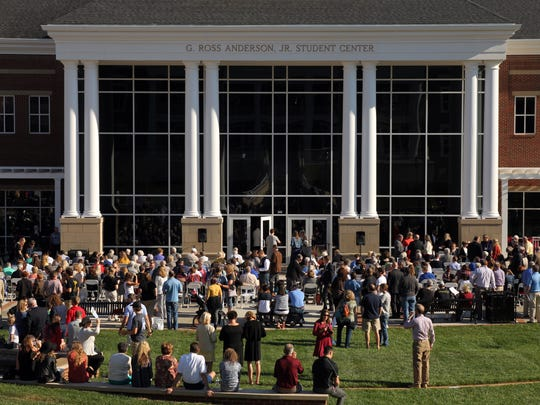 A crowd of hundreds of supporters came for the G. Ross Anderson Jr. Student Center's grand opening.