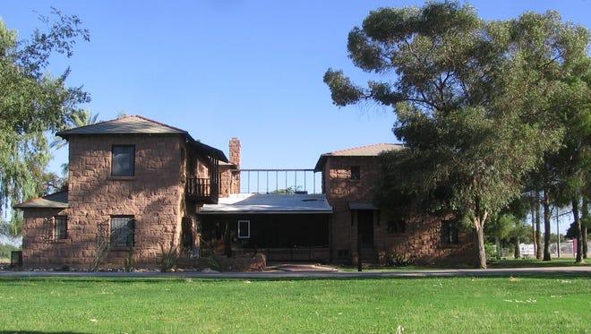 The south side of Rancho Ko-Mat-Ke and the main entrance.