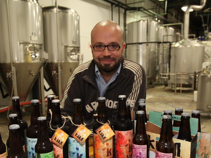 Alireza Saifi of the Kuka Andean Brewing Co. poses