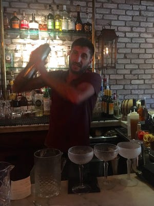 Isaac Grillo from Repour Miami was a guest bartender at Bar Tulia recently.