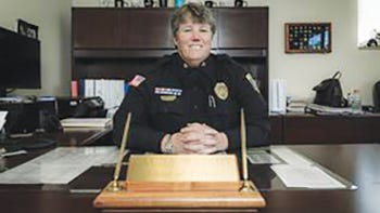 Camdenton Police Chief Laura Wright.