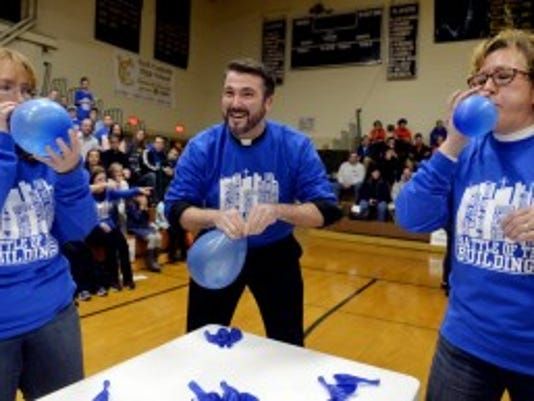 "This year will be the second annual Battle of the Buildings, when Catholic schools compete in ""Minute to Win It"" type games for Catholic Schools Week. (File photo)"