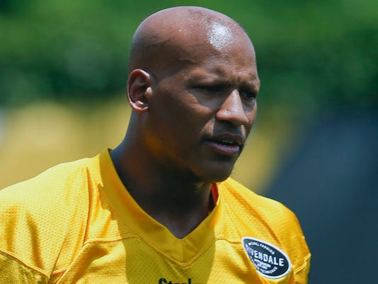 FILE - In this June 13, 2017, file photo, Pittsburgh Steelers'  Ryan Shazier is shown at an NFL football minicamp, in Pittsburgh. Pro Bowl linebacker Ryan Shazier attended practice on Wednesday, Jan. 10, 2018, for the first time since injuring his spine against Cincinnati last month.(AP Photo/Keith Srakocic, File)