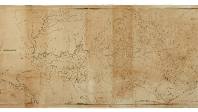 A rare wall map of Kentucky circa 1794 will be auctioned May 26 in New York.