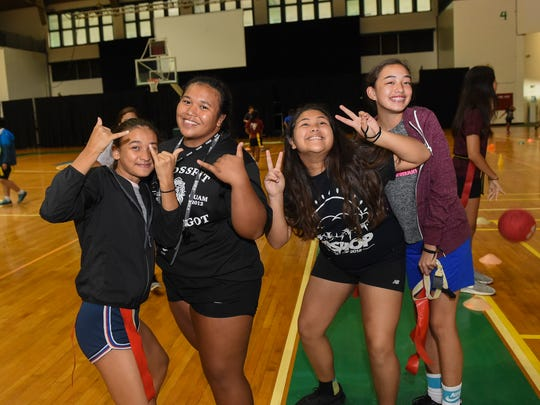 In this July 2, 2018, file photo, camp counselors gather for a photo during the University of Guam Adventure Sports Camp at the UOG Calvo Field House.