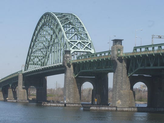 Lightning may have struck the  Tacony-Palmyra during a Wednesday afternoon thrunderstorm, slowing traffci at malfuntcioning toll booths . A view of the Tacony Palmyra Bridge from the Palmyra side.
