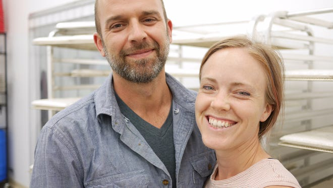 Chad Oliphant and Sarah Yancey, co-founders of Smiling Hara Tempeh LLC.