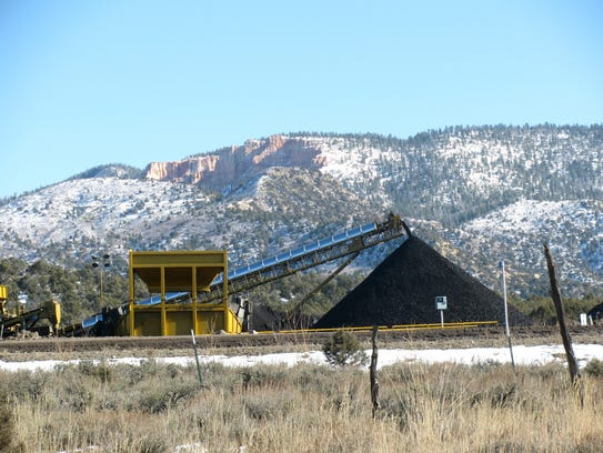 A coal mine in Alton, Utah is photographed in January
