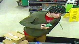 New Castle County Police are looking for this man, who was caught on surveillance video using a stolen credit card.