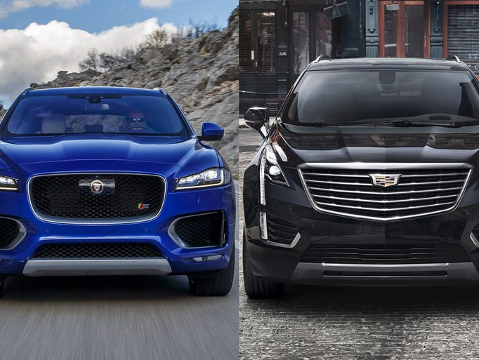 The 2017 Jaguar F-Pace and the 2017 Cadillac XT5 are