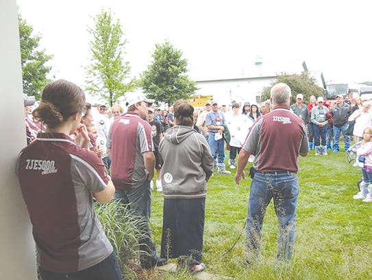The Sauder family welcomed a large crowd to their farm