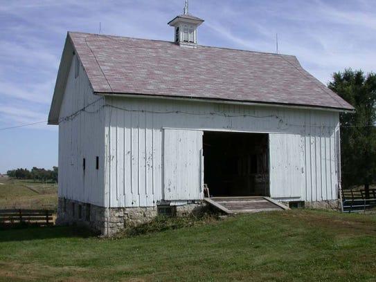 The Gillespie barn in Winterset was built in 1874.
