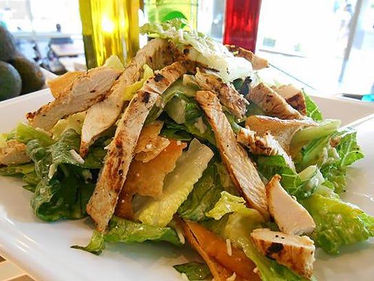 The chicken Caesar salad at Bowl of Greens.