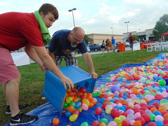 Organizers greatly expanded the number of water balloons