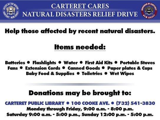 Carteret has sent eight pallets of water to San Juan,