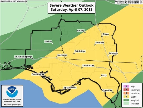 The National Weather Service issued this Severe Weather