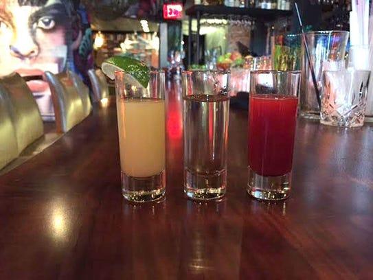 Drinks at Cien Agaves.
