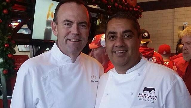 Chefs Charlie Palmer, left, and Michael Mina, right, will host the first Super Bowl Culinary Kickoff at Fairmont Scottsdale Princess on Thursday, Jan. 29.
