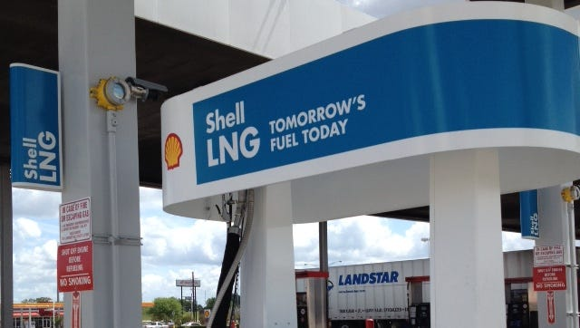 A LNG pump is pictured at TA in Lafayette.