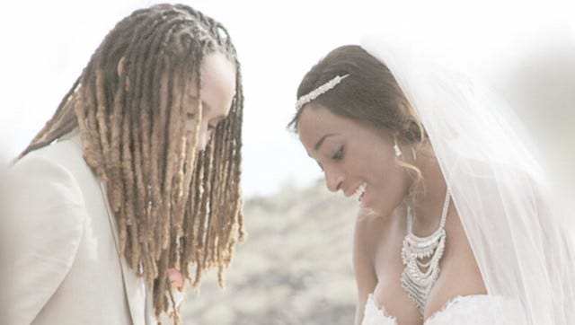 Brittney Griner and Glory Johnson were married in May.