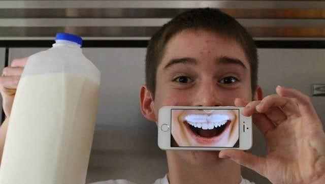 Corona senior Nate Marshall won a $12k scholarship for this photo of his milk mustache.