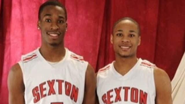 Jalen Hayes, left, and twin Jawan played at Lansing Sexton with Denzel Valentine and Bryn Forbes.